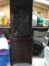Wooden corner cupboard