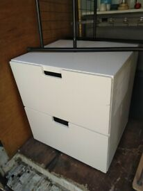 Ikea two drawer bedside table storage central London bargain