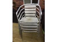 Chrome metal chairs