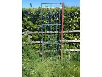 Wrought iron security gate with post