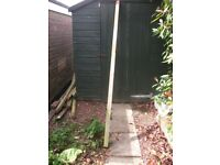 Garden posts, recycled 2by2 wooden posts approx 6ft to 7ft in length