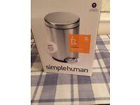 Simple human 3L pedal bin