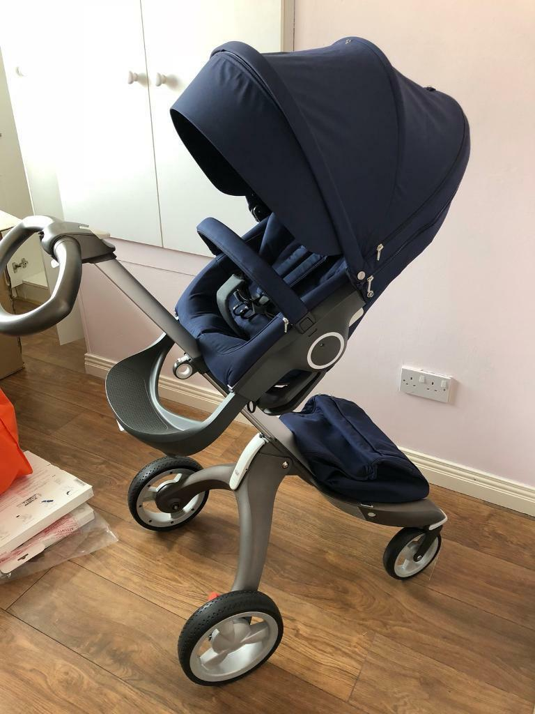 Stokke Xplory V4 Deep Blue Ex Demo In Newry County Down