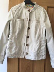 Boden Ladies Cream Casual Jacket - Size 10
