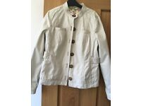 Boden Ladies Cream Casual Jacket - Size 10