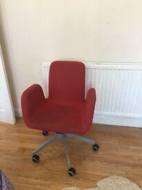 Ikea Patrik Swivel Office desk chair in red
