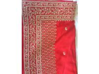 Brand new designer sari with matching blouse