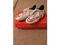Junior Nike football boots size 1.not worn much as son wasn't part of a club at the time.