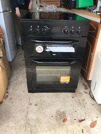 Black bush electric double oven and grill 2 months old