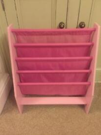 Children's pink Disney bookcase