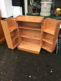 ENTERTAINMENT CABINET \ CUPBOARD. QUALITY PINE. LOTS OF STORAGE. CLEVER DESIGN