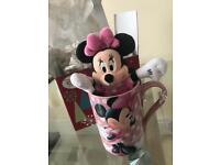 Disney mug and teddy
