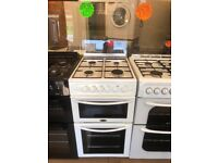 BELLING 50CM ALL GAS COOKER IN WHITE WITH LID