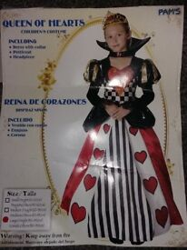 Queen of hearts costume large size 8- 10 year old