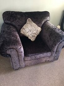 Immaculate sofa, armchair & footstool
