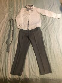 Age 7 trousers, shirt, dickie bow and braces