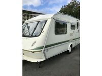 lovey Elddis mistral xl 2 berth with awning very light to tow
