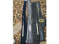 Preston carbonactive rods feeder and float fishing