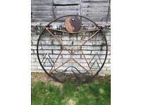 Circular wrought iron gate