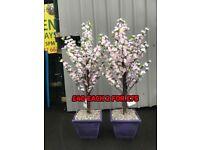 Large artificial plant pots