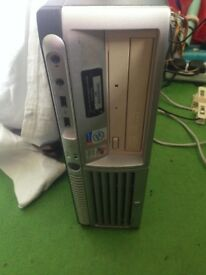 HP Compaq DC7600 SFF PC with Monitor, Mouse and Keyboard - Pentium 4 HT, 3GB RAM, 160GB HDD