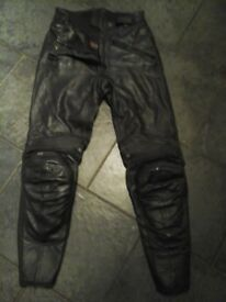 M tech ladies 100% real leather trousers size 38 uk 6