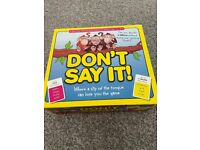 Don't Say It! Board Game.