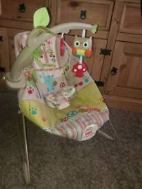 Fisher-Price Vibrating Baby Bouncer Chair, As New