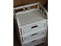 White Cane Basket Weave set of Drawers