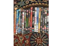 Collection of dvd movies.