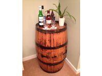 Oak Whisky Barrel Bar