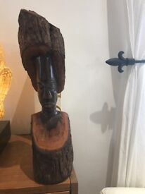Great quality hand carved solid mahogany African carving , beautiful wood , solid and heavy