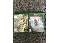 Fifa 17 & Rise of the Tombraider on Xbox one