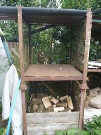 Fire Wood Storage, (or other), wire sided Stillage, stackable.