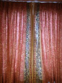 2 pairs fully lined dorma curtains, 168cm wide X 137cm long.