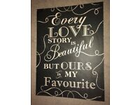 """Love Story"" Picture/Wall Art"