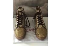 Mens Gold Christian Louboutin Trainers