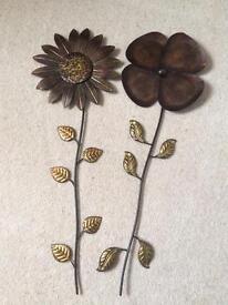 Metal ornaments flowers