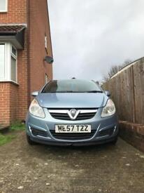 Vauxhall corsa 12months mot £30 ayear Tax 140000