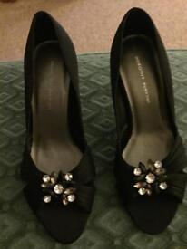 Black NEW high heeled beautiful gem embellished shoes