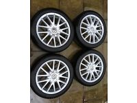 Mk5 Golf GT Alloys with Tyres