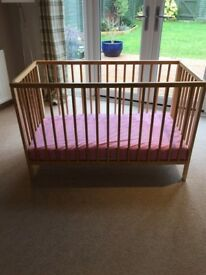 Cot, two blankets and mattress, great condition