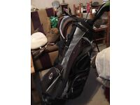 Ben Hogan golf bag and Callaway and king cobra clubs