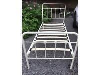 2 x metal single beds- no matresses