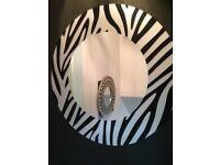 Zebra print mirrors