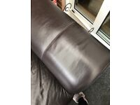 Brown leather sofas 2&3 seater