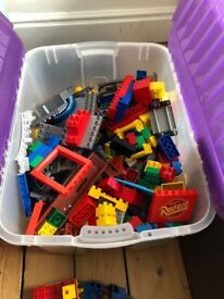 DUPLO building blocks and track