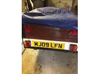 6ft by 3ft wooden car trailer