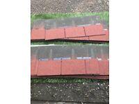 Wickes red bitumen roof shingles