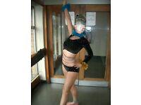 # freestyle disco dance solo inter champ dance janine costume age under 16 black
